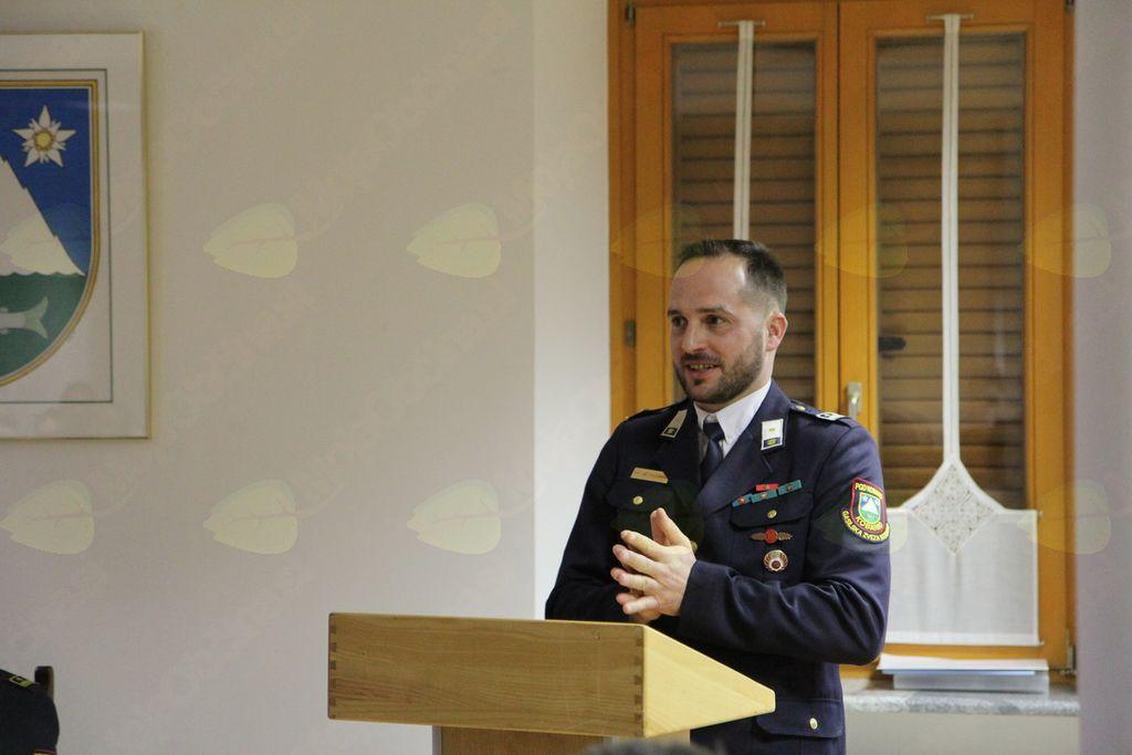 Novo vodstvo PGD Kobarid, poveljnik Matjaž Gregorčič. Foto: PGD Kobarid