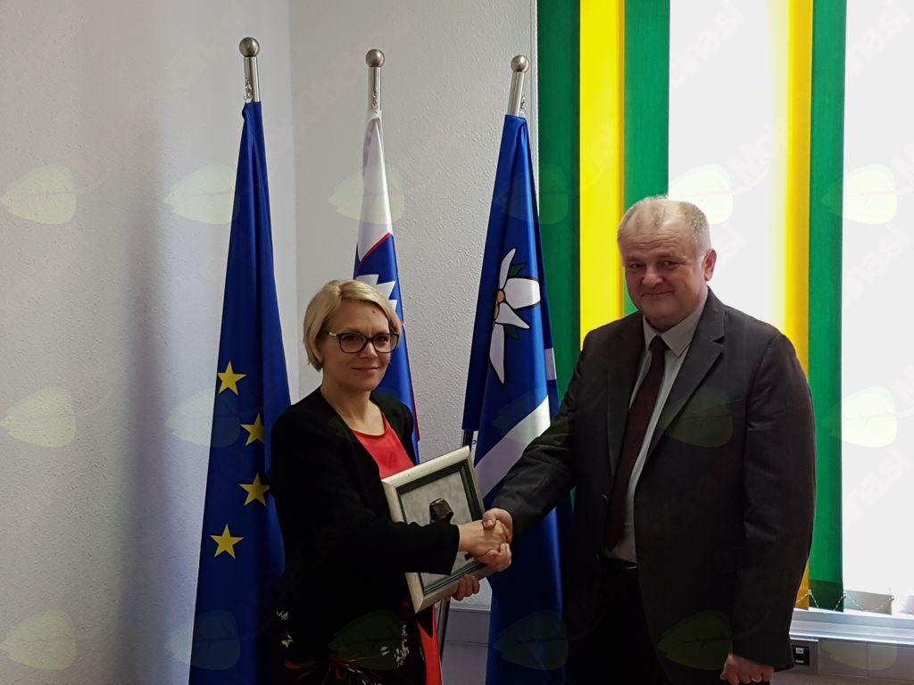 Ministrico za delo, družino, socialne zadeve in enake možnosti je sprejel župan Občine Kobarid.