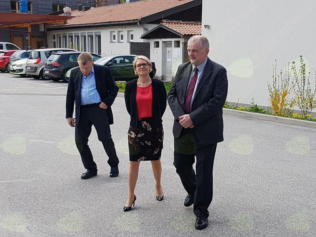 Ministrica si je ogledala prostore bivše policijske postaje v Kobaridu.