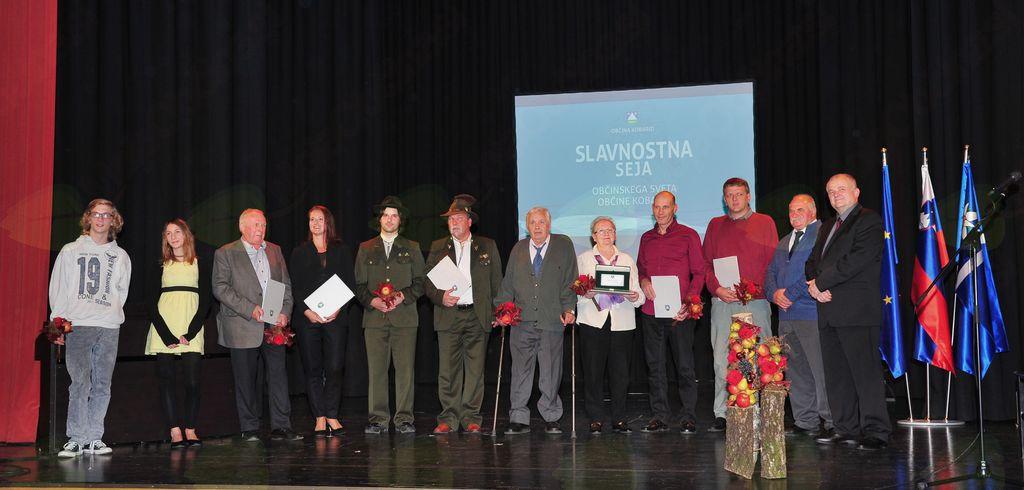 Občinski nagrajenci Občine Kobarid za leto 2017.