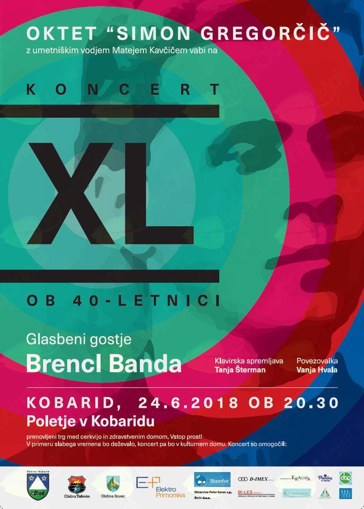 XL -  koncert Okteta Simon Gregorčič Kobarid, ob 40-letnici
