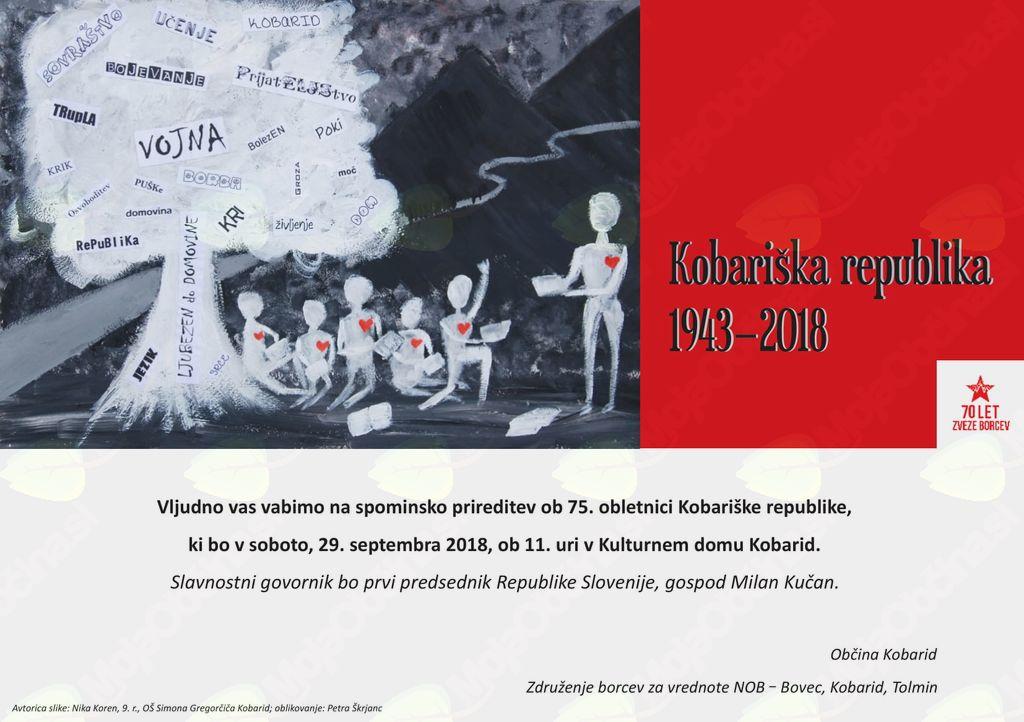Prireditev ob 75.obletnici Kobariške republike