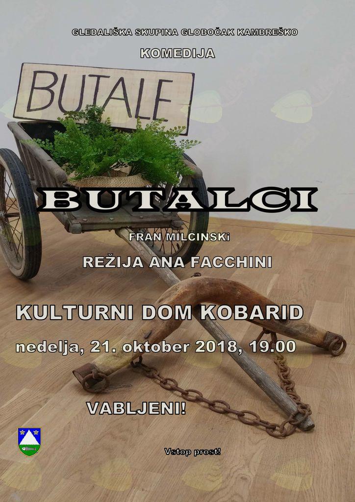 Gledališka predstava BUTALCI v izvedbi Gledališke skupine Globočak Kambreško