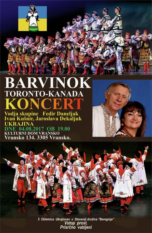 Koncert folklorne skupine Barvinok
