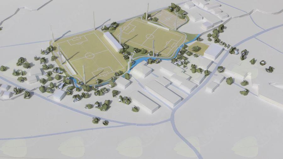 Na Brdu predstavljen osnutek idejnega projekta za Nogometni center Videm Vransko