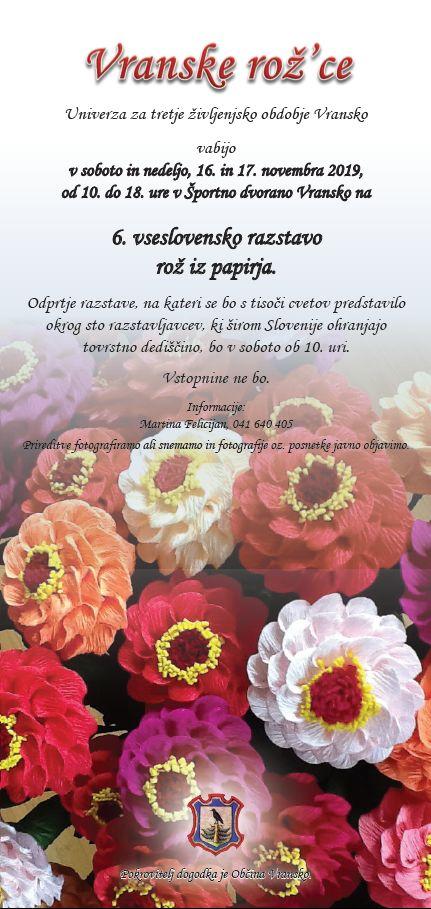 6. vseslovenska razstava rož iz papirja