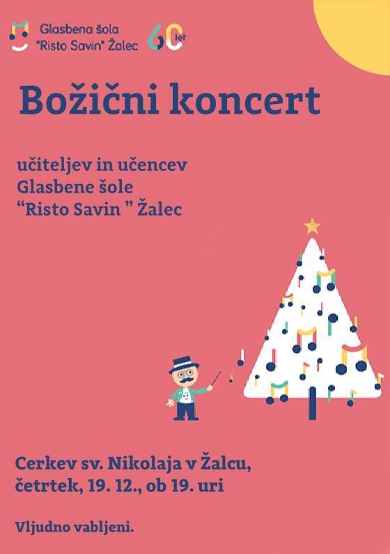 """Božični nastop učiteljev in učencev Glasbene šole """"Risto Savin"""" Žalec"""