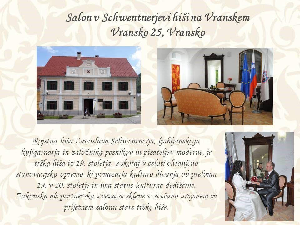 Poročite se lahko tudi v salonu Schwentnerjeve hiše.