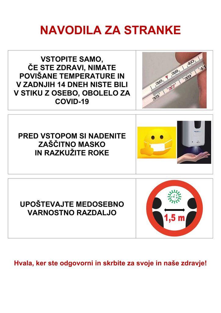 Obvestilo za stranke Občine Vransko
