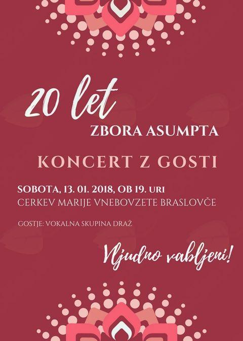 Koncert z gosti - 20 let zbora ASUMPTA