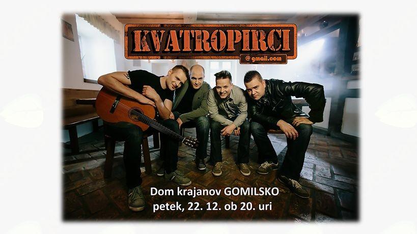 božično-novoletni koncert s KVATROPIRCI