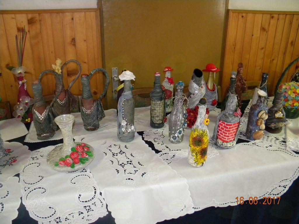 Unikatne posebej okrašene in dodelane steklenice