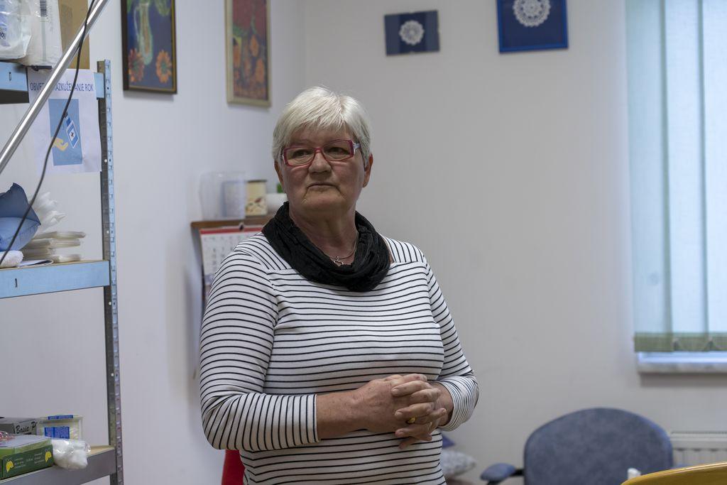 Zadovoljna z naučenim – predavateljica Dragica Novak, upokojena dipl. med. sestra