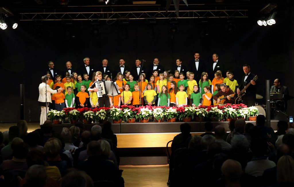 Vsi udeleženci koncerta skupaj na odru