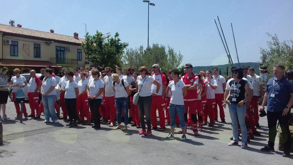 Ekipe prve pomoči RK Ajdovščina na regijskem preverjanju