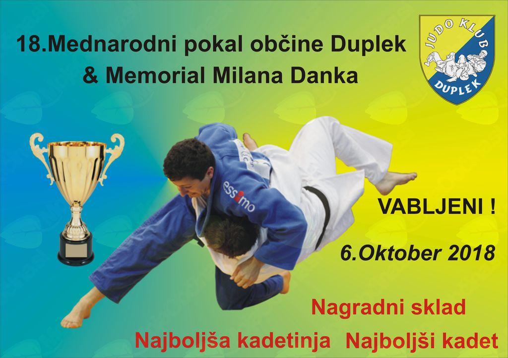 18.Mednarodni pokal občine Duplek & Memorial Milana Danka