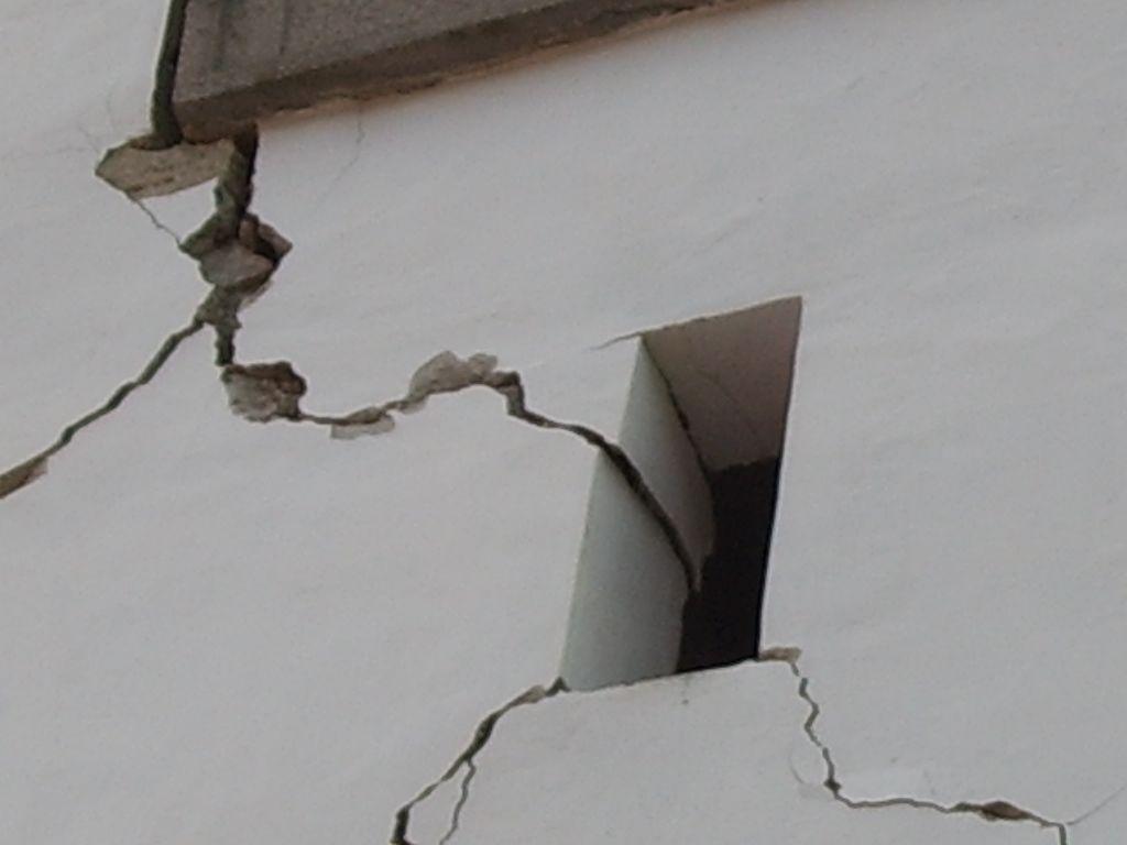 Poškodovani turn sv. Antona v Čezsoči