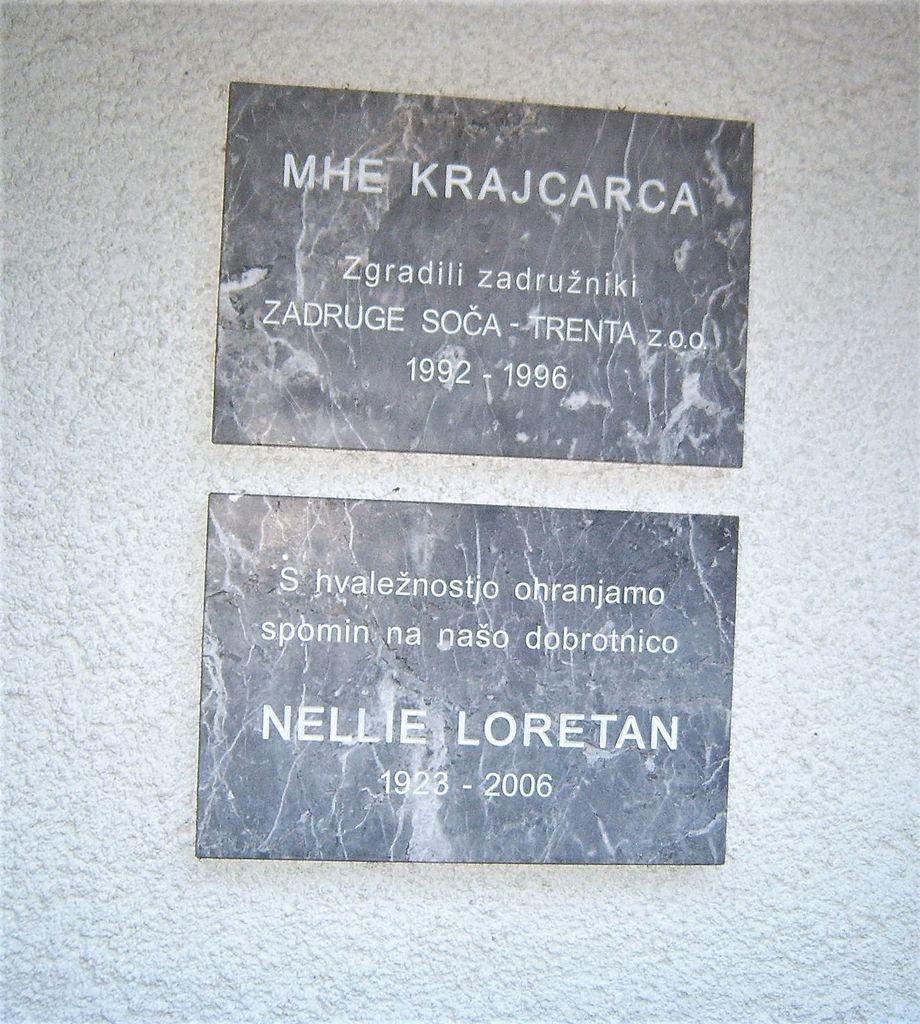 Ohranjamo spomin na dobrotnico Nellie Loretan