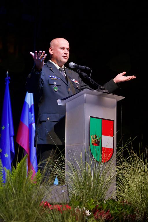 Slavnostni govornik, vojaški vikar Matej Jakopič
