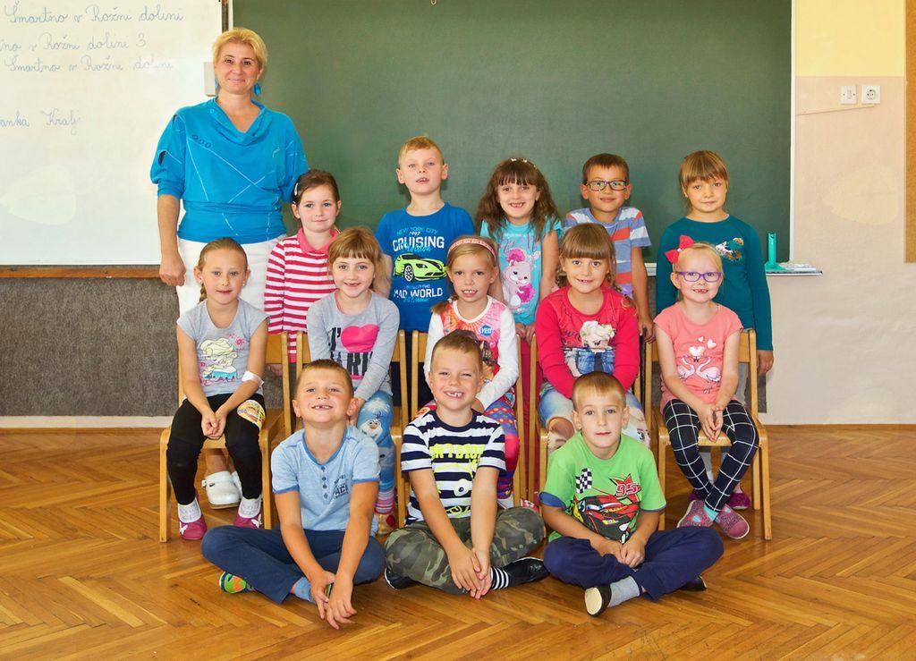 Osnovna šola Vojnik, Podružnična osnovna šola Šmartno v Rožni dolini, 1. razred
