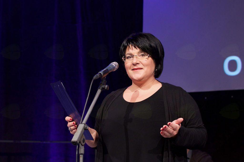Greta Kokot Rajković, povezovalka osrednje prireditve