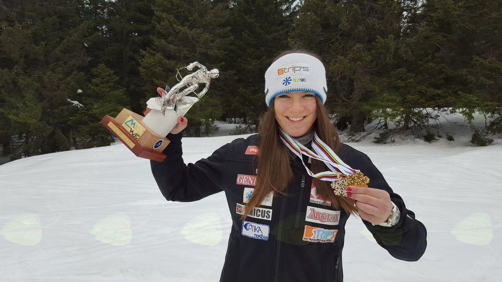 Članska državna prvakinja v superveleslalomu in kombinaciji