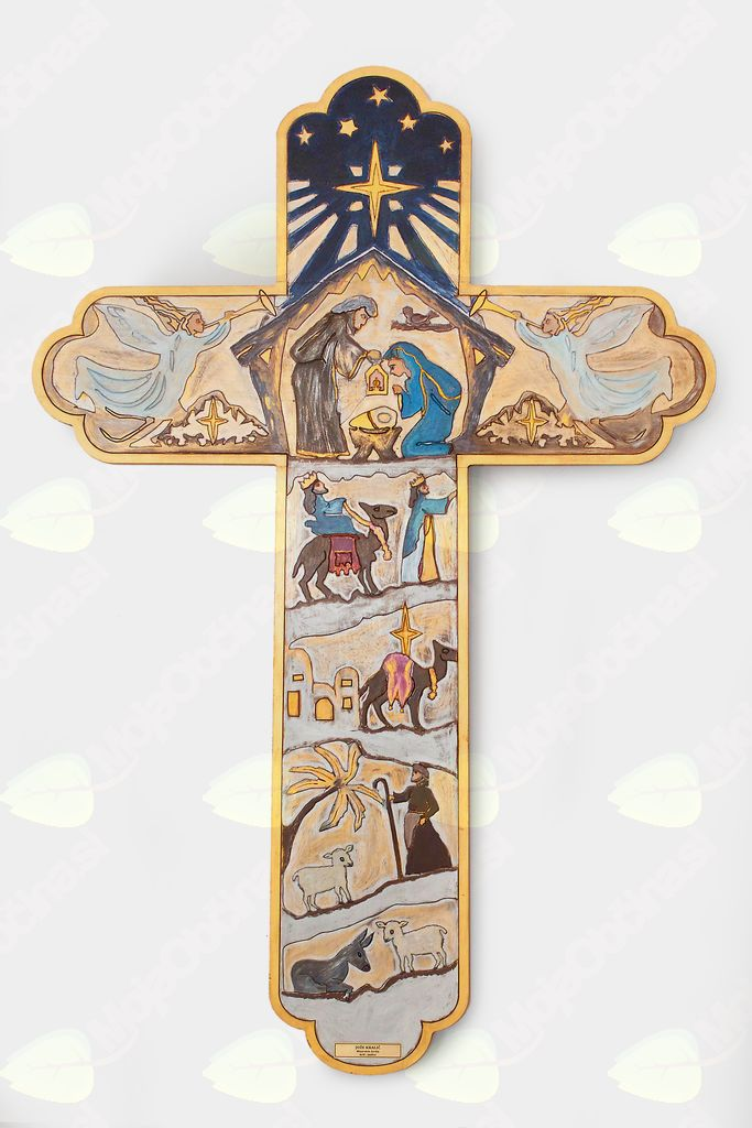 Podobe jaslic na križu Jožeta Kraljiča