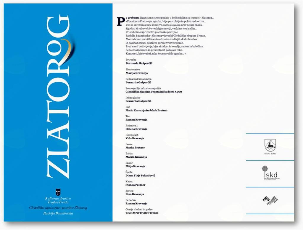 "ZLATOROG  - Premierna gledališka uprizoritev pesnitve ""Zlatorog"""