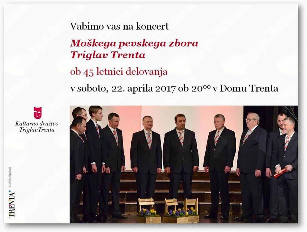 Letni koncert Moškega pevskega zbora Triglav Trenta