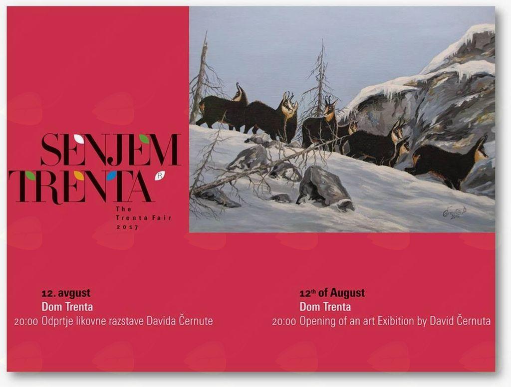 Odprtje likovne razstave Davida Černute