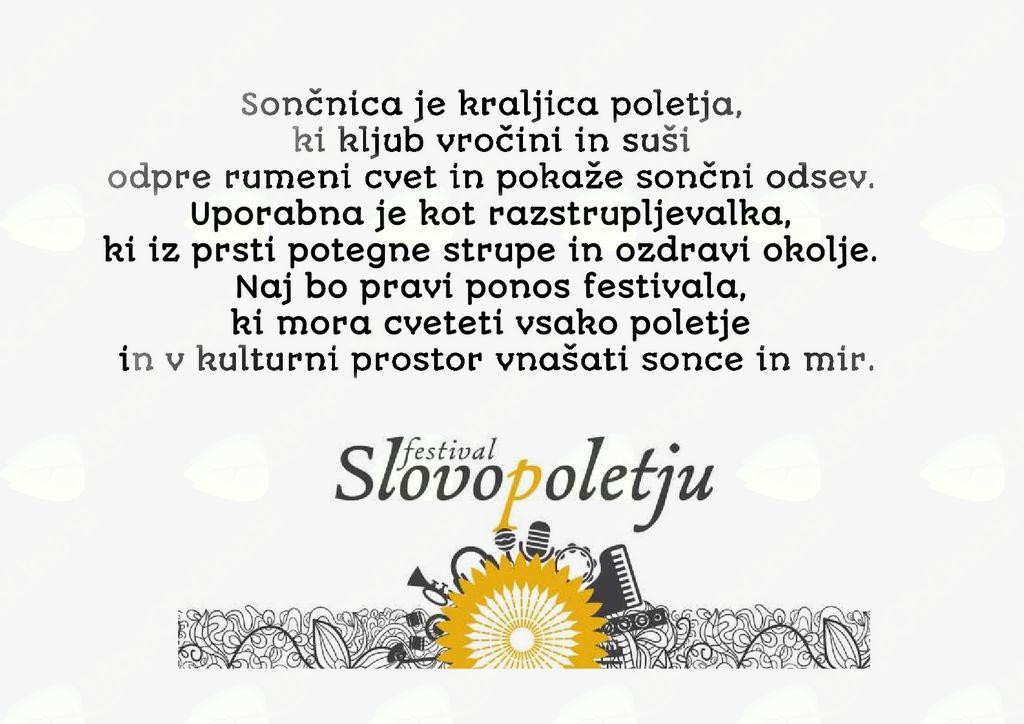 Festival Slovo poletju 2017