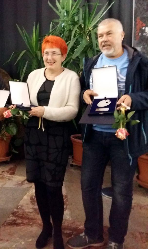 Jelka Jantol (zlata paleta) in Andrej Hostnik (srebrna paleta)