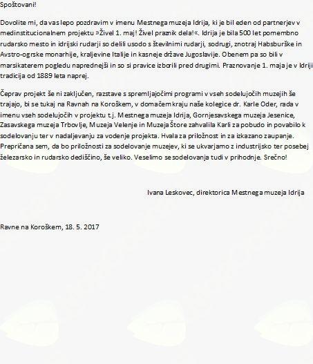 Predstavitev kataloga in posvet: Živel 1. Maj! Živel praznik dela!