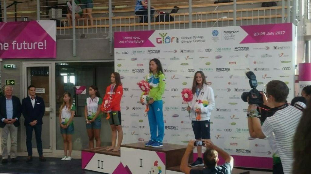 Sara Račnik mladinski olimpijski šampion v plavanju