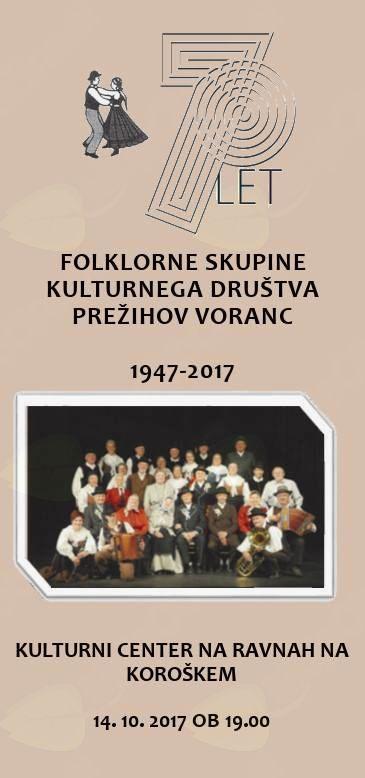 Folklorna skupina KD Prežihov Voranc – 70 let – Ravne na Koroškem