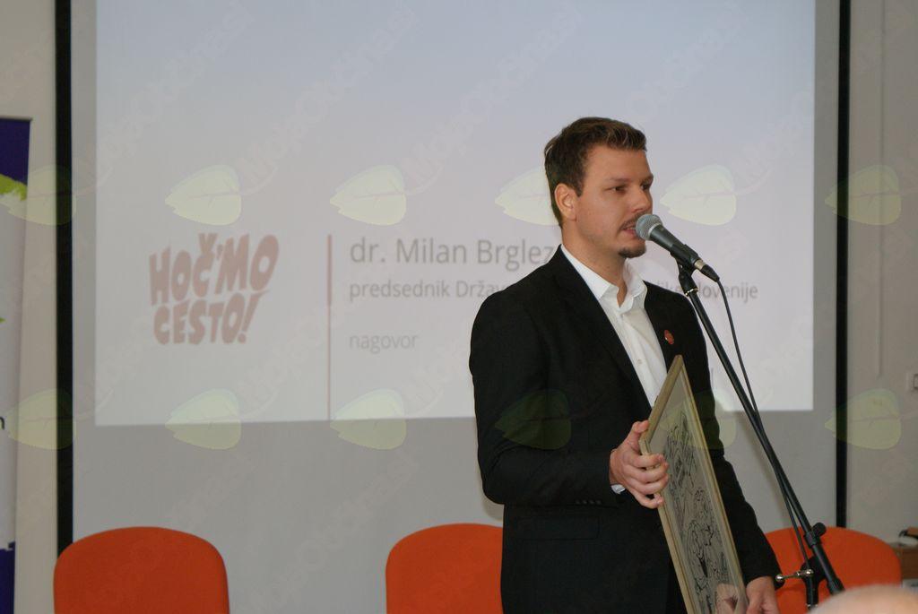 Govor koordinatorja Mladinske iniciative Aljaža Verhovnika Ambasadorji HOČMO CESTO, 20.11.2017
