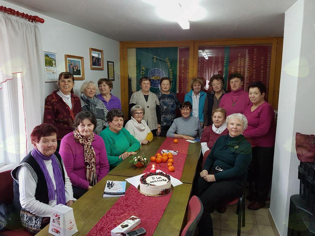 5. rojstni dan pogovorne skupine hotuljskih  seniork