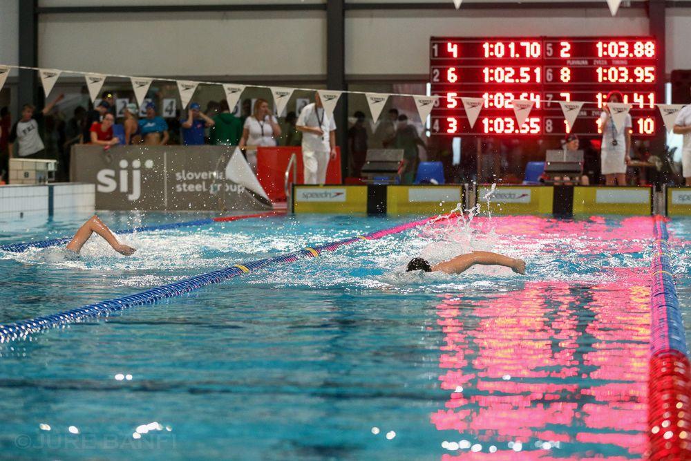 Prvi dan državnega prvenstva v plavanju najuspešnejši od Ravenčanov Martin Bau z dvema zmagama