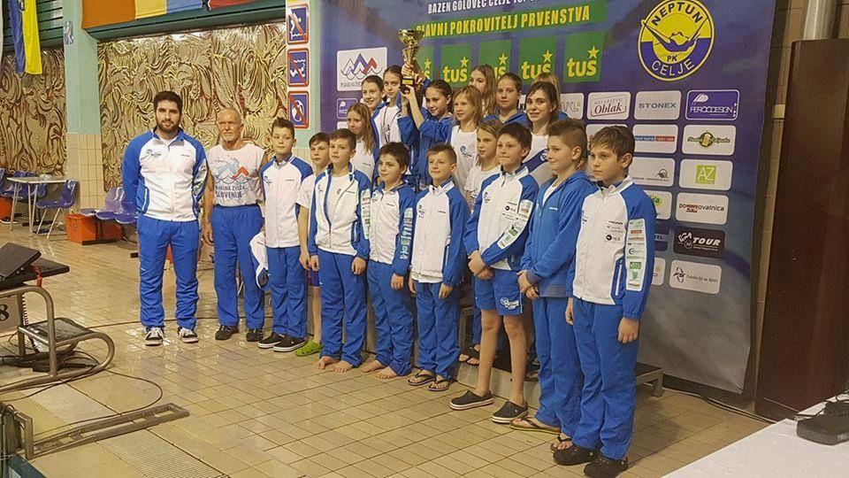Mlajši dečki/deklice ekipno drugi na zimskem državnem prvenstvu 2018