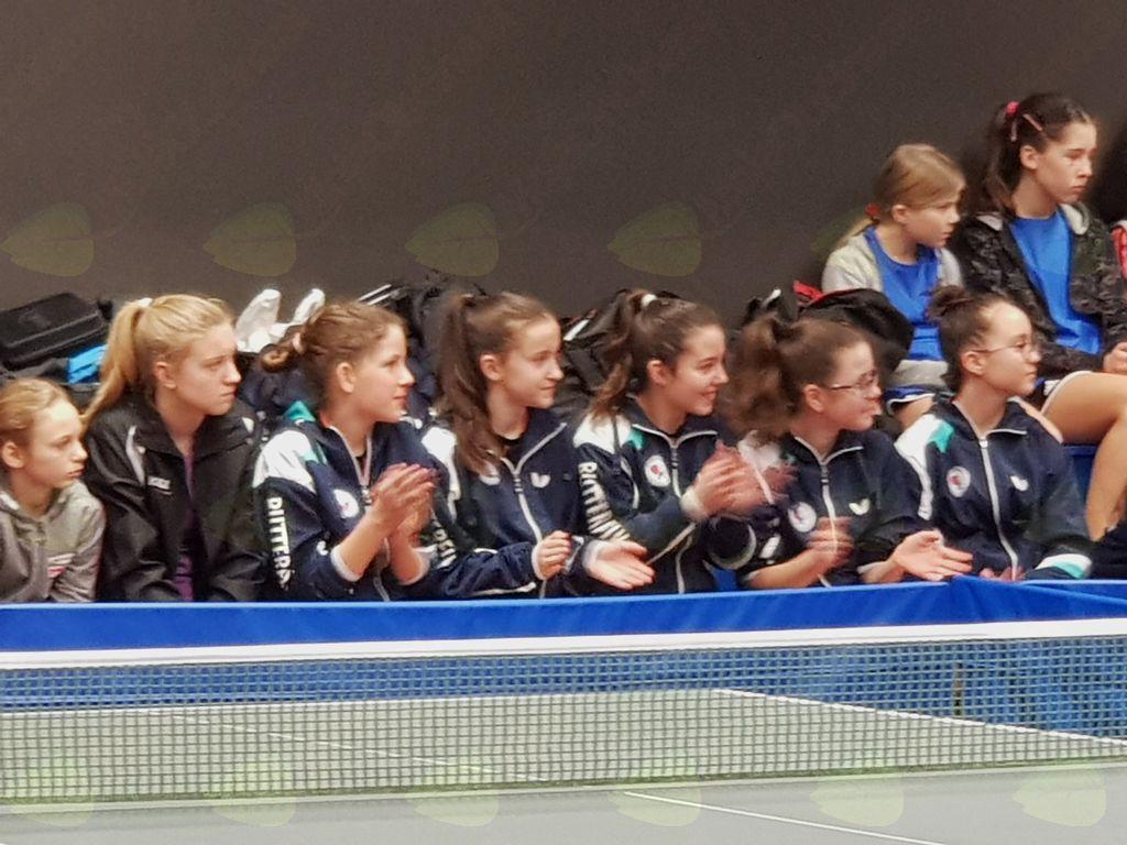Finale kadetskega prvenstva v namiznem tenisu - slavje NTK Fužinar Inter Diskont