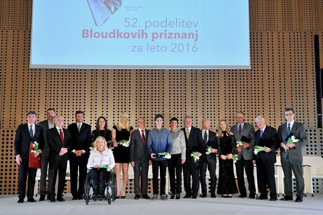 Nagrajenci z Bloudkovimi priznanji na Brdu pri Kranju