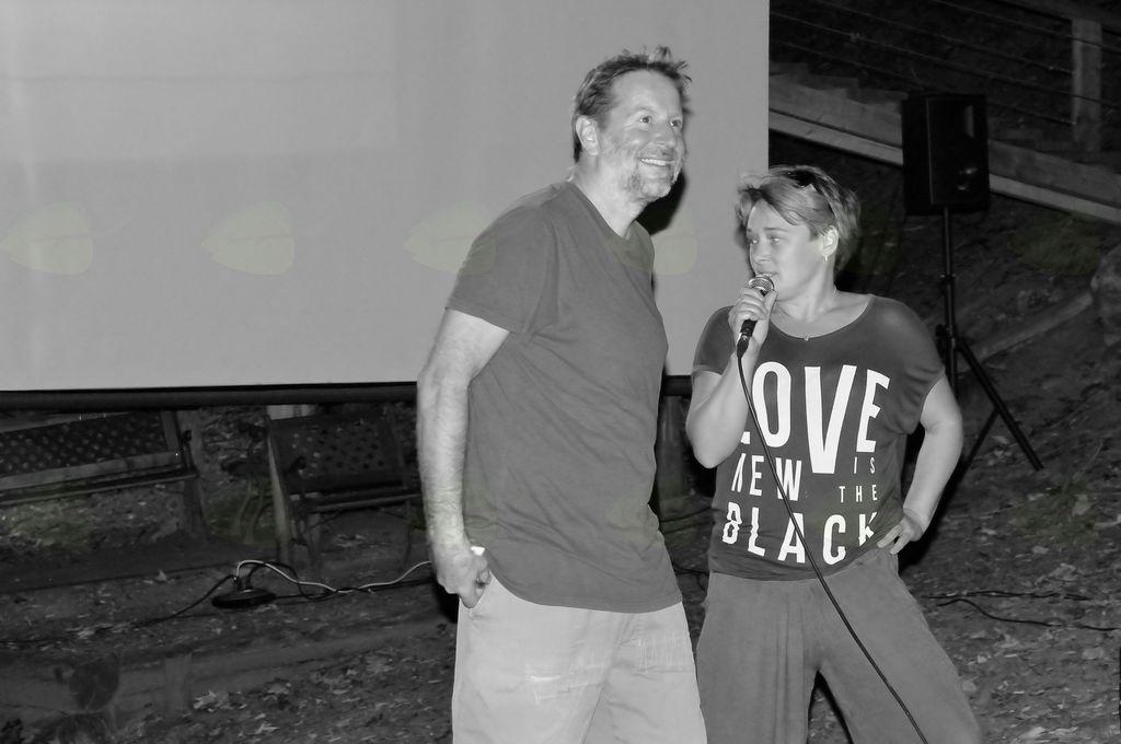 Režiser Igor Šterk v razgovoru z Matejo Zorn. Foto: Primož Kožuh