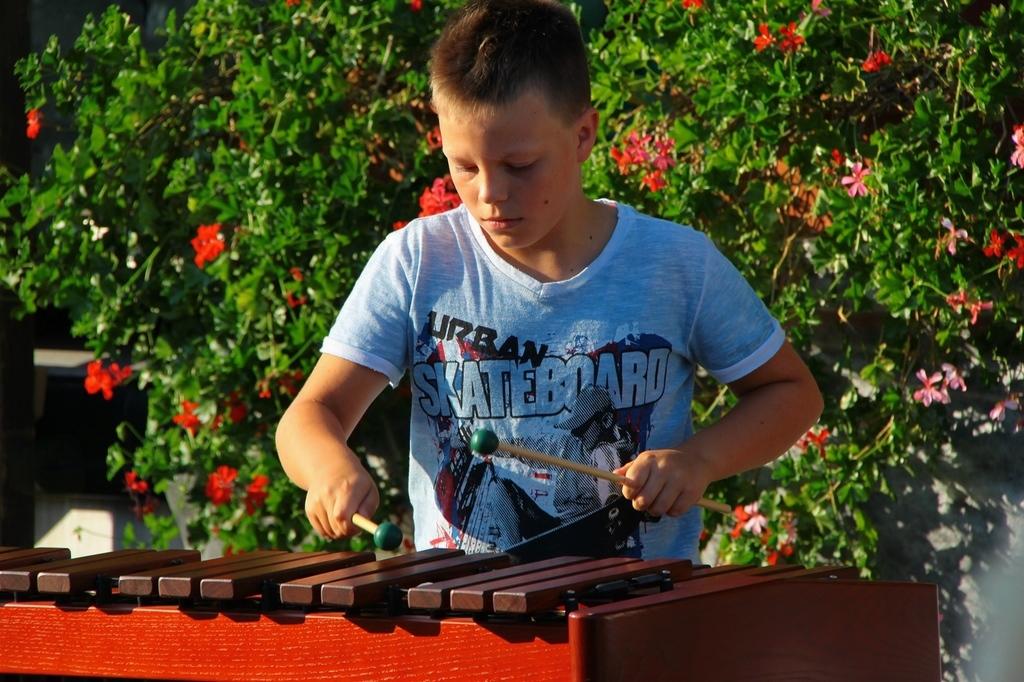 Tine Lestan na ksilofonu