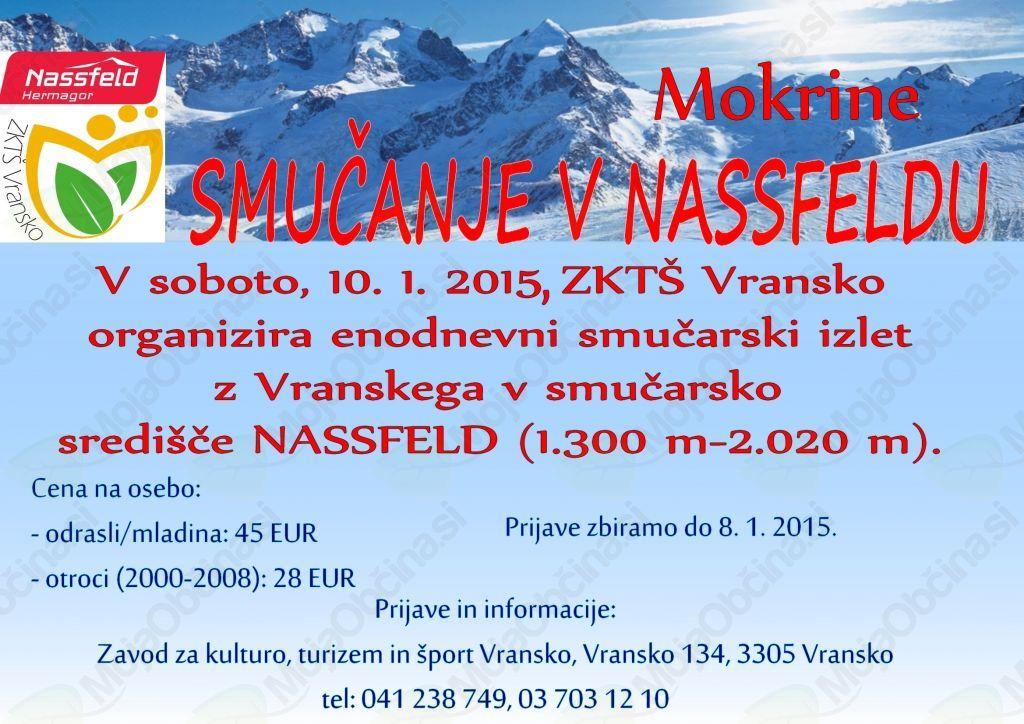 Smučanje v Mokrine/Nassfeld