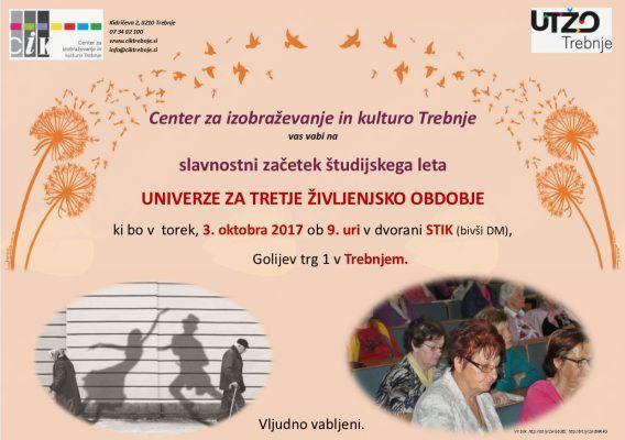 Otvoritev Univerze za tretje življenjsko obdobje Trebnje