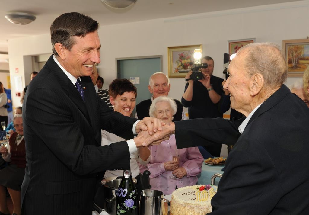 Praznovanja rojstnega dne Franca Peniča se je udeležil tudi predsednik Republike Slovenije Borut Pahor.