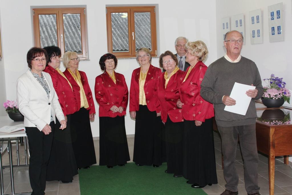 Benedikt Podergajs, predsednik društva med nagovorom
