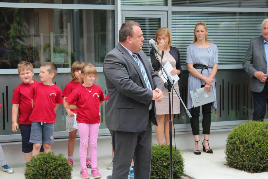 Župan Branko Petre med nagovorom