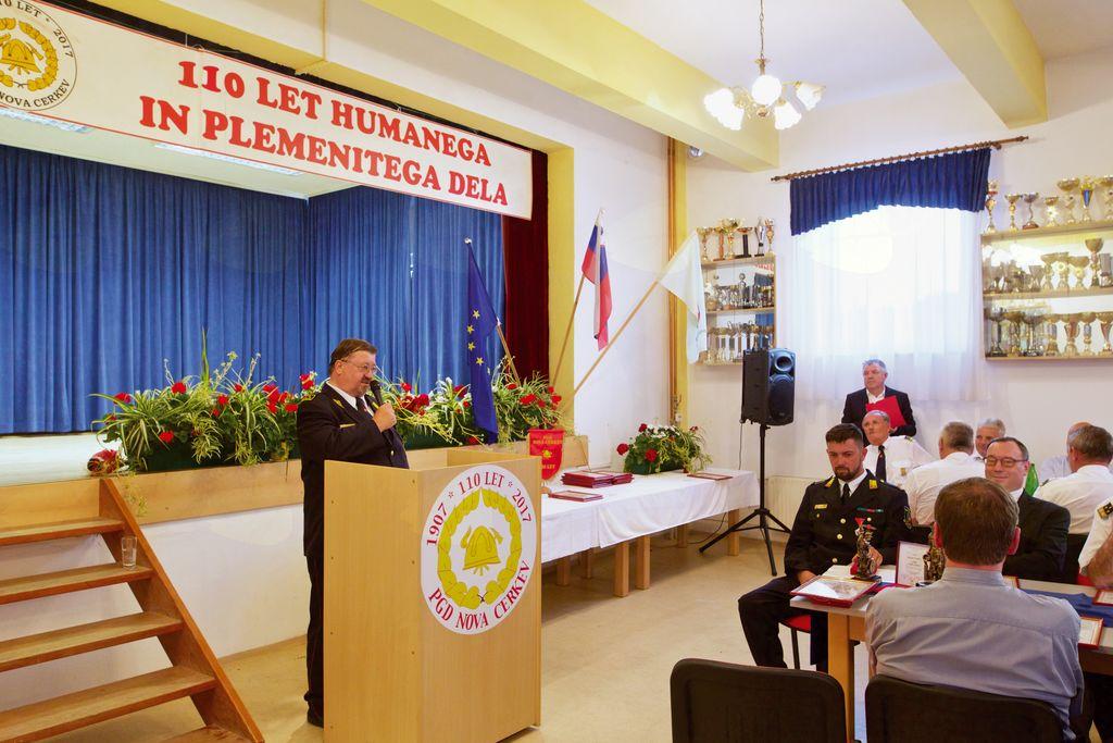 Nagovor predsednika PGD Nova Cerkev Slavka Jezernika