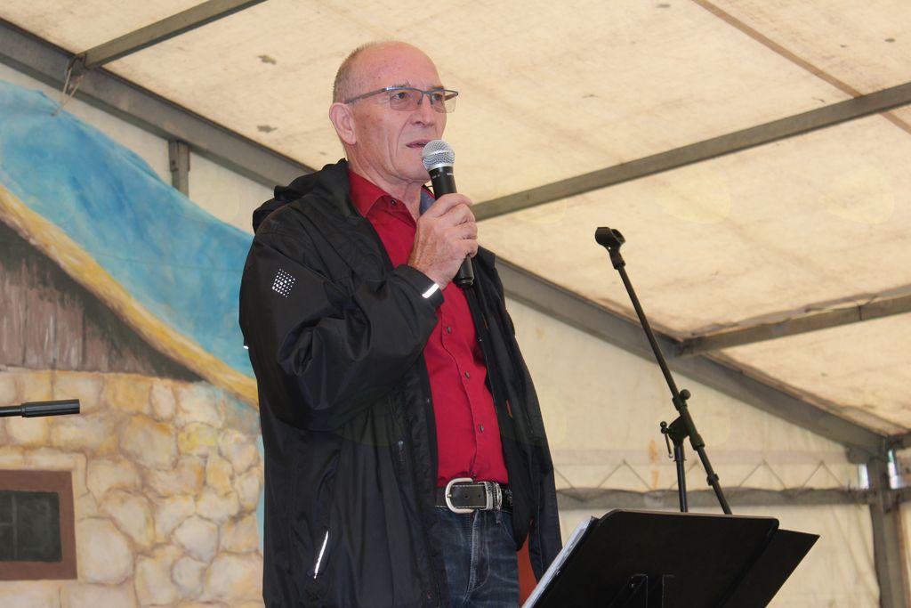 Marijan Kajzba, predsednik DU Vojnik med nagovorom